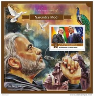 MALDIVES 2015 - N. Modi, Peacock S/S Official Issue