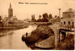Blaton (Bernissart). Eglise, Embouchure Du Canal D'Ath - Bernissart