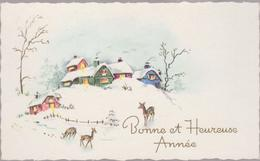 FRANCE     BONNE Et HEUREUSE ANNEE Environ 1955  Mini C.P( 7x11 Cm) - Nouvel An