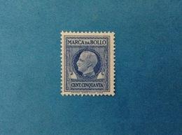 REGNO D'ITALIA VITTORIO EMANUELE III MARCA DA BOLLO DA 50 CENT. FILIGRANA CORONA CON FASCI USATA - Fiscale Zegels