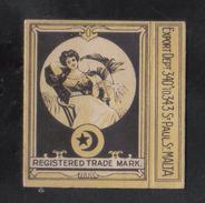 PERA C.COLOMBOS LTD.CAIRO MALTA  PACKET OF 12 CIGARETTE - 1910 VERY RARE - - Empty Cigarettes Boxes