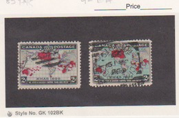 CANADA Scott #  85-86 Used 1898 First Christmas Stamps Catalogue $18.00 - Used Stamps