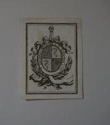 Ex-libris Héraldique, XVIIIème - DESAINS NOTAIRE A SAINT QUENTIN - Ex-libris