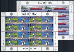 Isle Of Man 1988 Europa Cept Sheets MNH - 1988