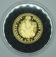 Hongrie Hungary Ungarn MARIA TEREZIA DUKAT 1779 REPLICA Médaille SILVER - GOLD Plated - UNC With Certificate - Hongrie