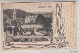 CALIZZANO-SAVONA-BORGO-FIERA DI SAN LORENZO-VIAGGIATA  IL 21-7-1907 X RARECOURT ARGONNE-2 SCAN- - Savona