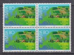 Switzerland 1988 Europäische Kampagne Für Den Ländlichen Raum 1v Bl Of 4  ** Mnh  (34182B) - Europese Gedachte