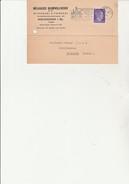 CARTON  COMMANDE AFFRANCHIE TIMBRE ALLEMAND N° 709 OBLITERE CAD MULHAUSEN ELS2 FLAMMEE BOLLWERK DEUTSCHEN FLEISSES 1942 - Alsace-Lorraine