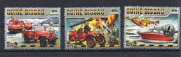 Tim321 Pompiers Jeep Catalina Hagglund Buick Tender Bateau Boat Avion Plane 2016 Feu Incendie Fire Firemen - Guinea-Bissau