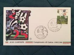 Busta FDC Filagrano Juventus Campione 1997-98 Doppio Annullo Su Francobollo - Calcio