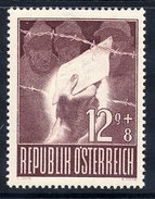 AUSTRIA 1947 Prisoners Of War 12+8 Gr. With Variety: Missing Dot Above O,  MNH / **.  ANK 839 I - Errors & Oddities