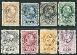 AUSTRIA 1874 Telegraph Engraved Set Of 8, Used.  Michel 10-17. - Telegraph