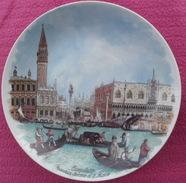 Assiette Décorative Tableau De CANALETTO Bacino Di San MArco à VENISE - Céramiques