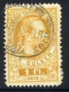 AUSTRIA 1874 Telegraph Engraved 1 Fl., Used.  Michel 16 - Telegraph