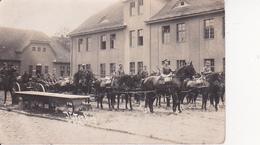 AK Foto Deutsche Armee - Artillerie-Gespann - Nach Dem Übung - 3 AR 4 - Ca. 1910 (26156) - Guerra 1914-18