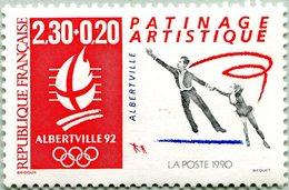 N° Yvert & Tellier 2737 - Timbre De France (1992) - MNH - Albertville 92 - JO D'Hiver - Patinage Artistique - Ongebruikt