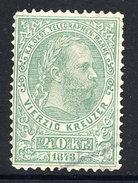 AUSTRIA 1873 Telegraph Typographed 40 Kr, Used.  Michel 5 - Télégraphe