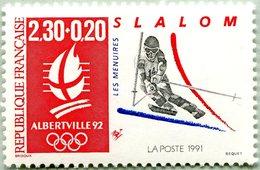 N° Yvert & Tellier 2740 - Timbre De France (1992) - MNH - Albertville 92 - JO D'Hiver - Slalom - Ongebruikt