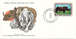 Central African Republic  FDC 21-2-1978 WWF Cover With The PANDA On The Stamp And Nice Cachet - FDC