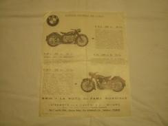 DEPLIANT PUBBLICITARIO EPOCA 1953 MOTO BMW - Sport