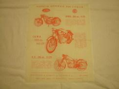 DEPLIANT PUBBLICITARIO EPOCA 1953 MOTO JAWA - CZ - Sport