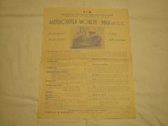 DEPLIANT PUBBLICITARIO EPOCA 1953 SIM REGGIO EMILIA MOTORSCOOTER MORETTI PUCH 125 - Sport