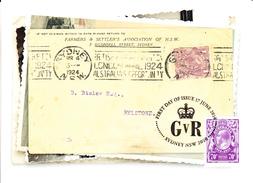 Australia 2014 Maxicard 70c 1924 Postcard - Centenary George V Stamps - Maximumkarten (MC)