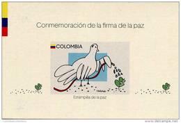 Lote 2016-8EP, Colombia, 2016, Entero Postal, Postal Stationary, Estampilla De La Paz, Peace Stamp, Dove, Bird - Colombia