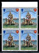 """Isle Of Man     """"Postal Independence""""    Set  (block Of 4)   SC# 28   MNH - Isle Of Man"""