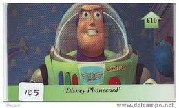 Disney Telecarte Walt Disney World ENGLAND GB (105) TOY STORY - Disney