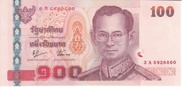BILLETE DE TAILANDIA DE 100 BATH SERIE 3A SIN CIRCULAR-UNCIRCULATED (BANKNOTE) - Tailandia
