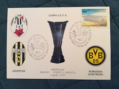 Cartolina Juventus Club Vignola (MO) Semifinale Coppa UEFA Juventus-Borussia Dortmund 4-4-1995 - Soccer