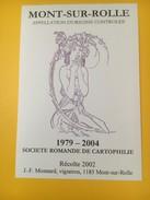 2818 - Suisse Vaud Mont-sur Rolle 2002 Pour Société Romande De Cartophile  1979-2004 Reproduction Mucha - Labels