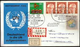 Germany Berlin 1973 / IAPC UN Airmail Show / Flight Geneva New York - Aviones