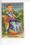 (n°728) CPSM 42 ST SAINT ETIENNE  Carte à Systeme Ou Tiroire Y A Pas Que D´l´eau Y A Aussi  N°125 - Saint Etienne