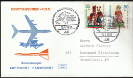 """Germany Dortmund 1970 / 105 Years Of Jules Verne """"The Trip To The Moon"""" / Astrophilately / Rocket - Lettres & Documents"""