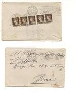 1611) 1931 Annullo Targhetta Imperiale C10x5 Multipli Puri - Storia Postale