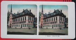 Stereofoto: Belgien Mechelen / Malines - Rathaus / Hôtel De Ville - Photos Stéréoscopiques