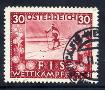 AUSTRIA 1933 FIS Ski Championship 30+30 Gr, Used.  Michel 553 - 1918-1945 1st Republic