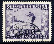 AUSTRIA 1933 FIS Ski Championship 24+24 Gr, Used.  Michel 552 - 1918-1945 1st Republic