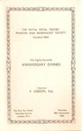 Menu Met Gastenlijst !!! 1935 The May Fair Hotel London 87anniv.dinner Royal Metal Trades Pension And Benevolent Society - Menu