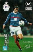 CARTE§ PREPAYEE-INTERCALL-31/03/2001-2MN-GOLDEN GRAHAMS GAGNANTE-FOOT-ZIDANE-TBE - France