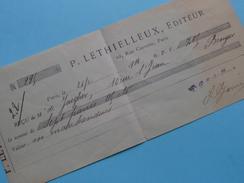 P. LETHIELLEUX Editeur PARIS ( 2 Pcs.) Anno 1913 & 1914 ( De Jaegher Brugge ) ! - Wechsel