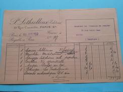 P. LETHIELLEUX Editeur PARIS - Anno 1913 ( De Jaegher Brugge ) ! - France