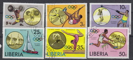 LIBERIA : Yvert 706-711 Used – Olympic Games Montreal 1976 - Liberia