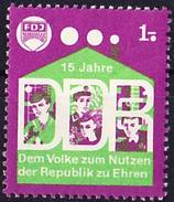2016-0881 Cinderella GDR FDJ (socialist Youth Organisation), 15 Years GDR - Cinderellas