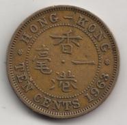 @Y@    Hong Kong  10 Cents  1963    (4317) - Slovenië