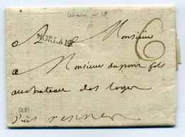 MP MORLAIX  Lenain N°18 / Dept 28 Finistère /  Ecrite De Bagatelle / Taxe 6 Sols Au Recto - 1701-1800: Precursores XVIII