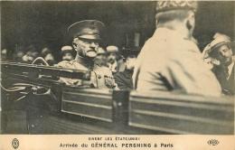 PARIS ARRIVEE DU GENERAL PERSHING A PARIS VIVENT LES ETATS UNIS - France