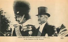 PARIS VISITE DES  SOUVERAINS DANOIS A PARIS 1914 LE ROI CHRISTIAN X ET MR POINCARE - Non Classés